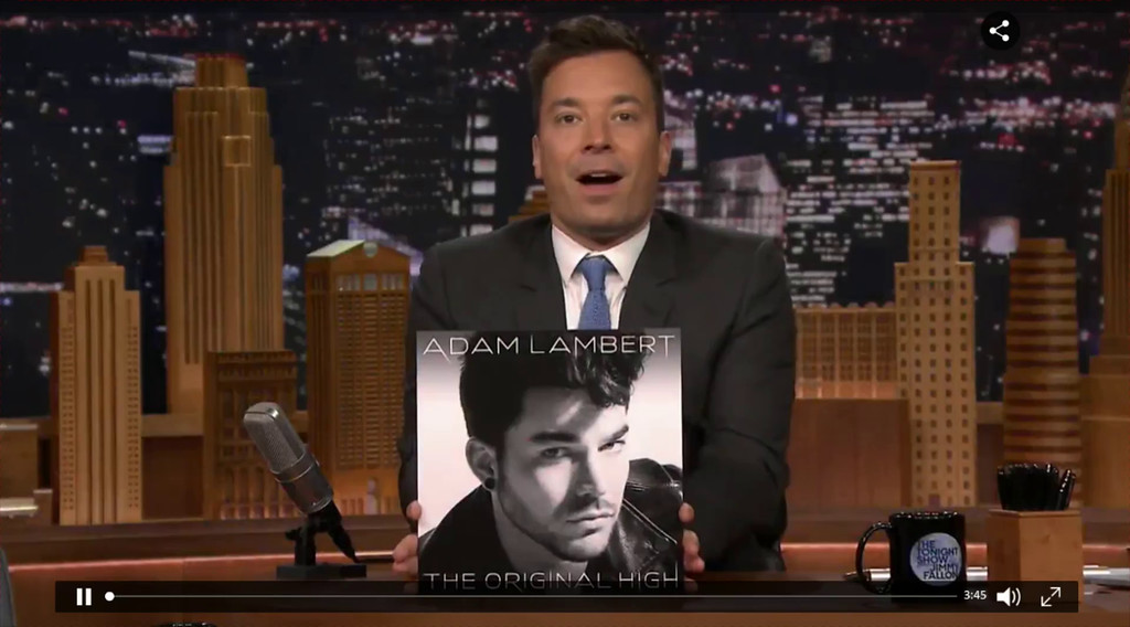 Adam Lambert's Performance of #GhostTown on the Jimmy Fallon Show